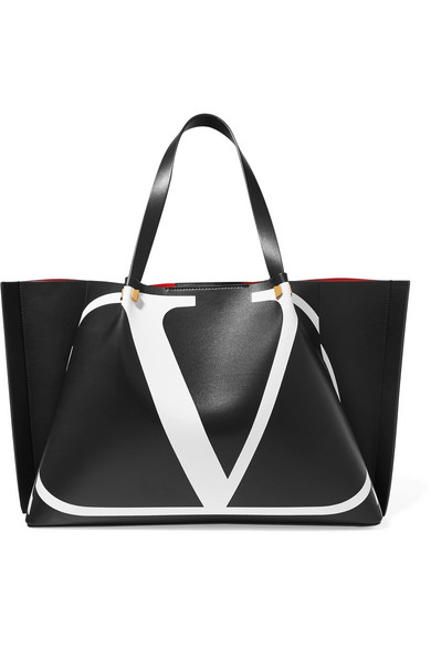 6040e942f22 Valentino Garavani Go Logo Escape large printed leather tote