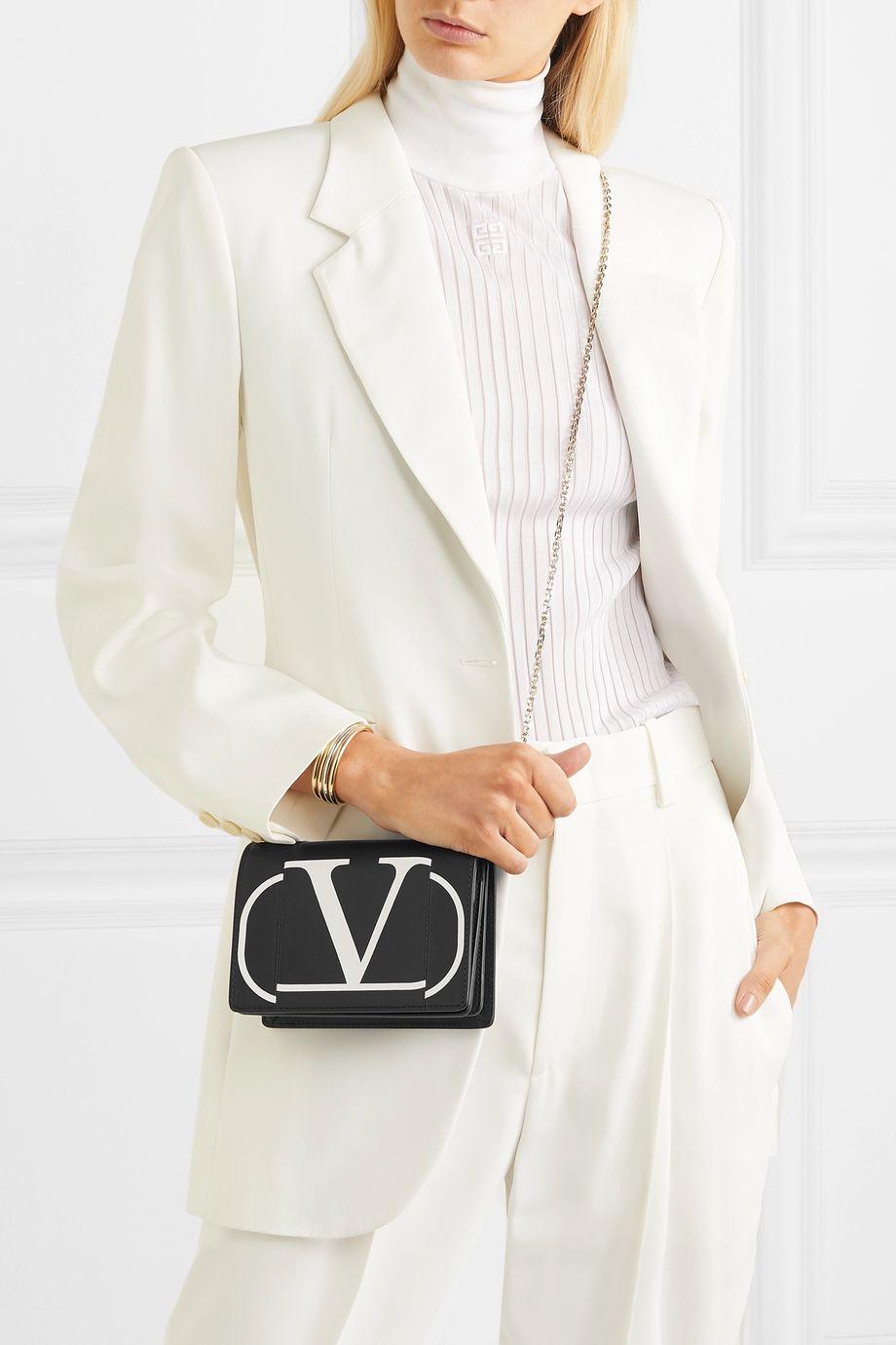 Valentino Valentino Garavani printed leather shoulder bag
