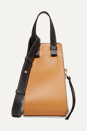 Loewe Hammock small color-block textured-leather shoulder bag
