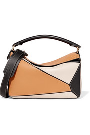 Loewe Puzzle small color-block textured-leather shoulder bag