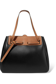 Lazo two-tone leather tote