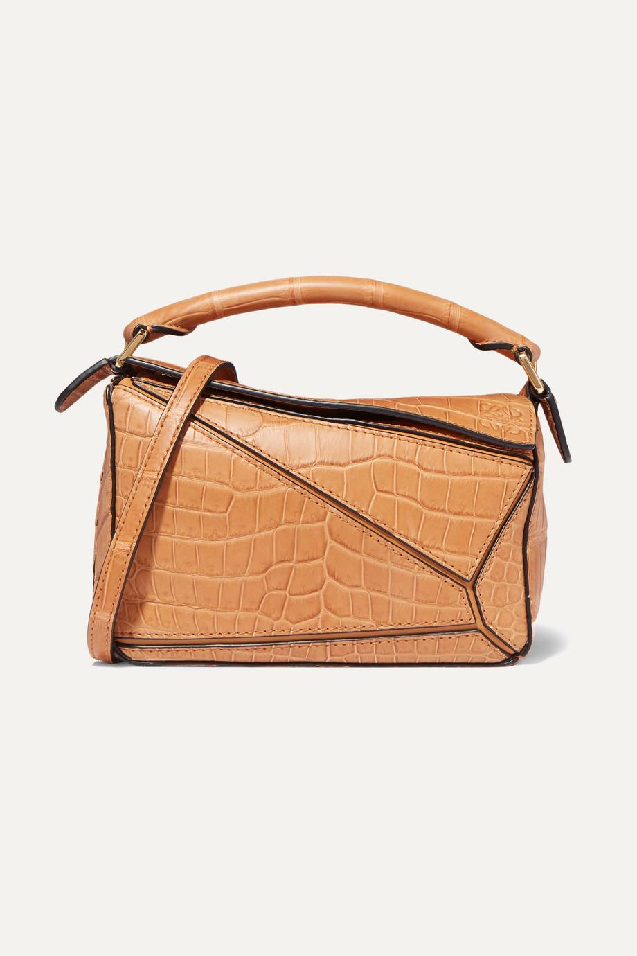 Loewe Puzzle mini crocodile shoulder bag