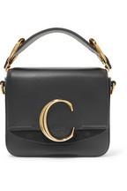 Chloé Chloé C mini suede-trimmed leather shoulder bag a0acda720b6bc