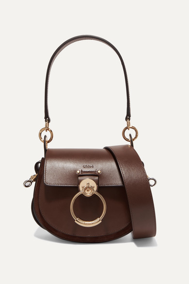 Tess Small Leather And Suede Shoulder Bag by Chloé
