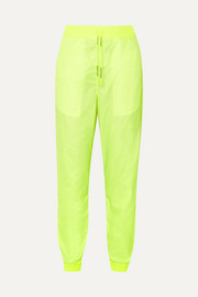 Off-White Neon shell track pants