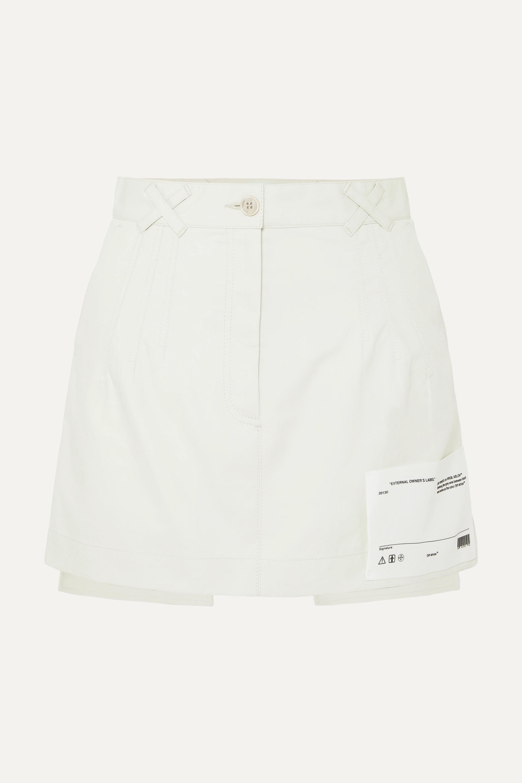 Off-White Mini-jupe en toile de coton à appliqué