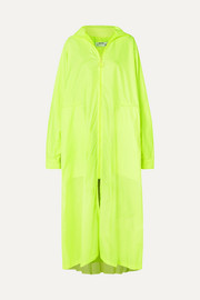 Off-White Oversized neon shell coat