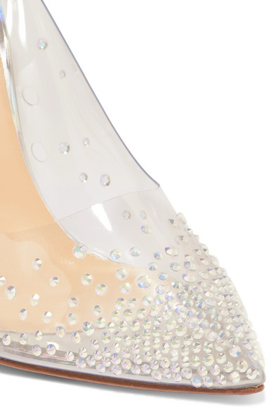 838eb455b3f Christian Louboutin | Degrastrass 100 embellished PVC and leather ...
