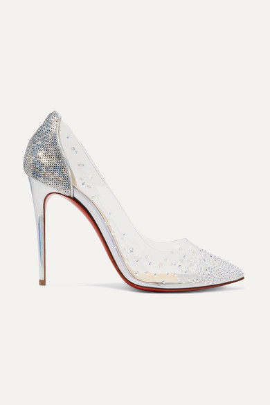 6fab225e7ac Degrastrass 100 embellished PVC and leather pumps