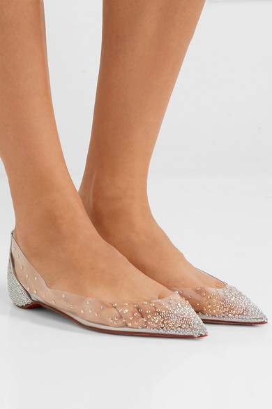 cheap for discount 5d080 1356f Christian Louboutin | Degrastrass embellished PVC and ...