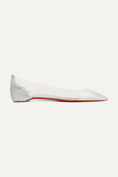 on sale e2c0d 0badc Degrastrass embellished PVC and leather point-toe flats