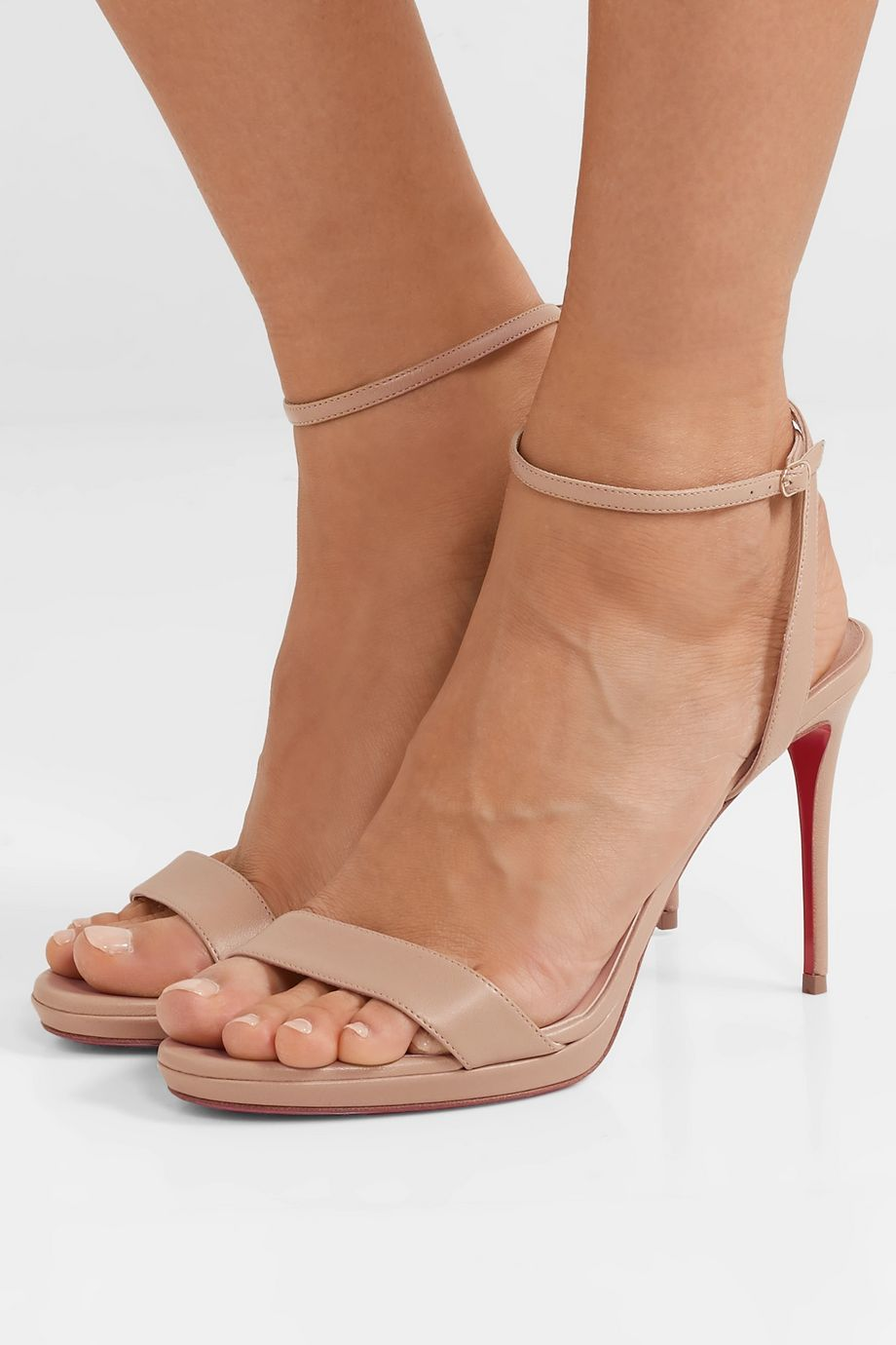 Christian Louboutin Loubi Queen 100 leather sandals