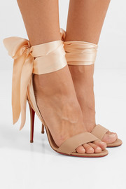 Sandale Du Desert 100 leather and satin sandals