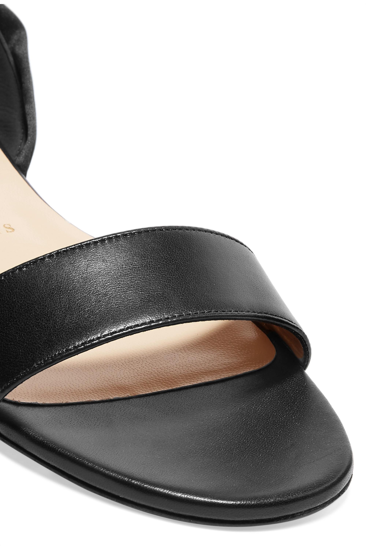 Black Sandale Du Desert leather and