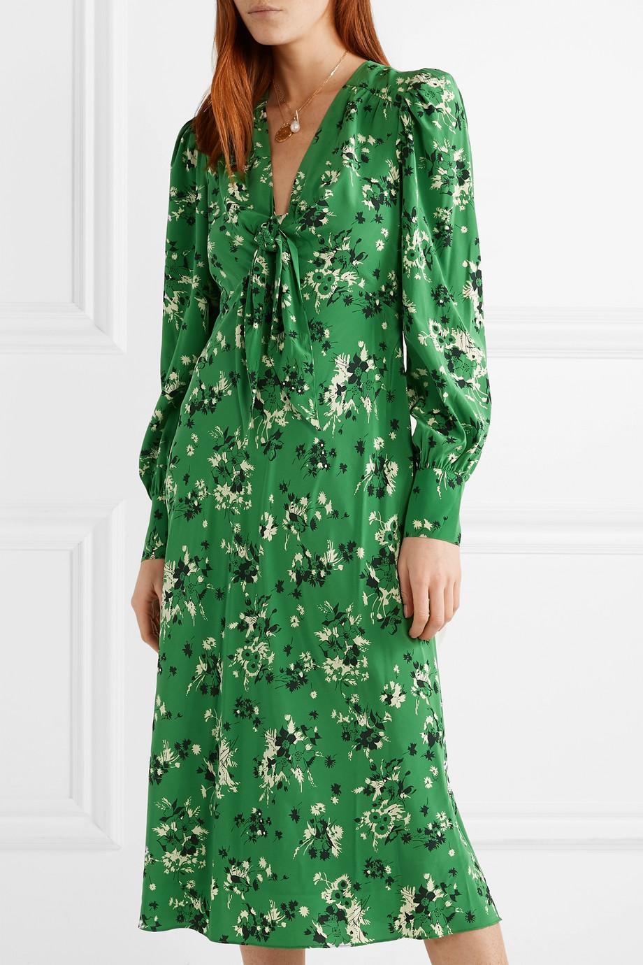59deb9679 Veronica Beard Amber floral-print silk-blend midi dress