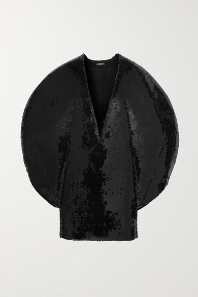Sequined Chiffon Mini Dress by Balmain
