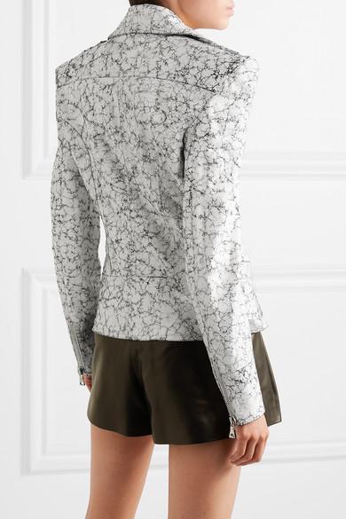 promo codes latest design coupon codes Balmain | Perfecto oversize en cuir craquelé peint | NET-A ...