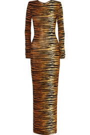 Alexandre Vauthier Tiger-print stretch-jersey gown