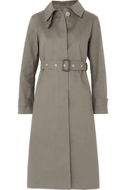 Bonded cotton trench coat