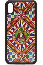 Dolce & Gabbana Printed textured-leather iPhone XS Max case