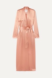 Satin trench coat