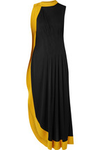 d4a4b916afb8 Givenchy Two-tone pleated stretch-crepe gown