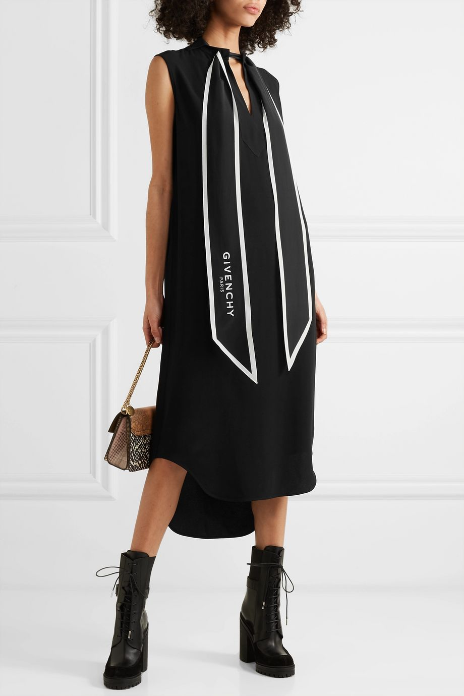 Givenchy Pussy-bow crepe tunic