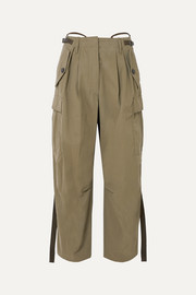 Givenchy Pleated canvas tapered pants