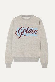 Golden Goose Printed flocked cotton-jersey sweatshirt