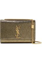 59c38bd7be Saint Laurent Kate metallic cracked-leather shoulder bag