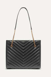 SAINT LAURENT Tribeca medium quilted textured-leather tote