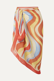 Solid & Striped Printed voile pareo