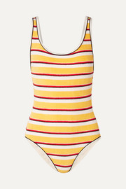 Solid & Striped The Anne-Marie striped cotton-blend terry swimsuit
