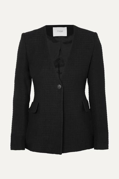 Maje Blazers Cotton-bouclé blazer