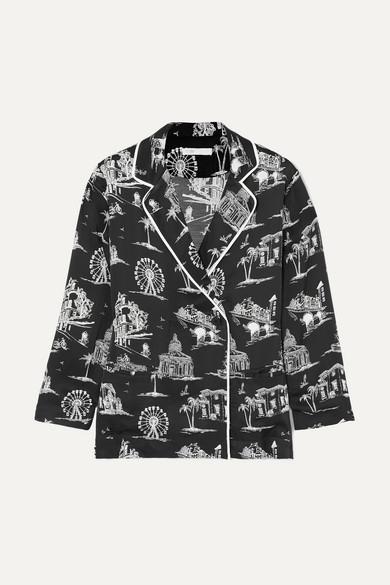 Maje T-shirts Printed satin shirt