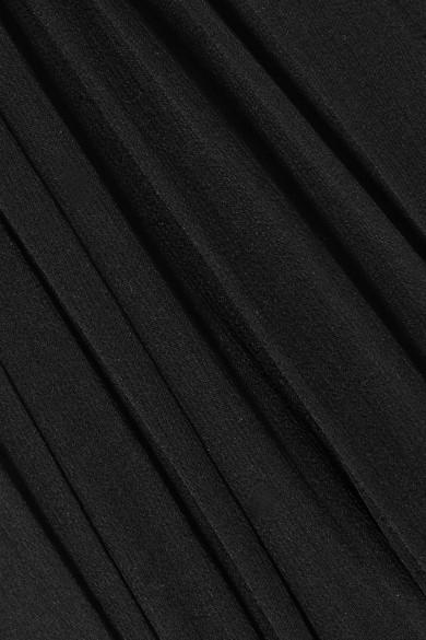 Saint Laurent Dresses Ruched silk-chiffon mini dress
