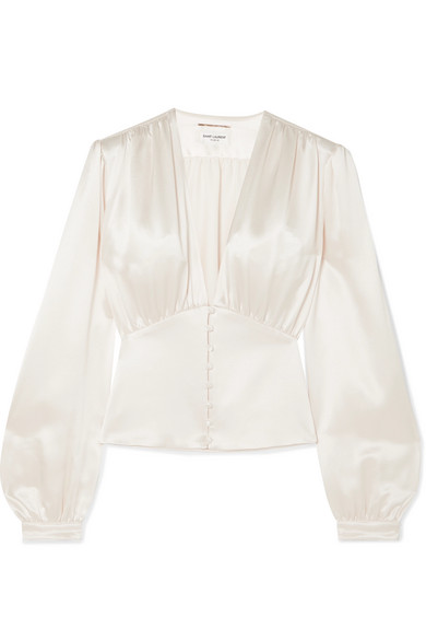 Saint Laurent Tops Silk-satin blouse