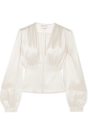 Saint Laurent Silk-satin blouse