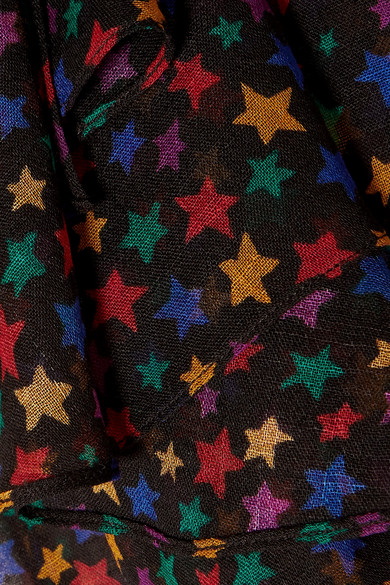 Saint Laurent Tops Pussy-bow printed wool-gauze blouse