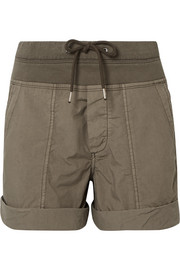 Cotton-blend poplin shorts