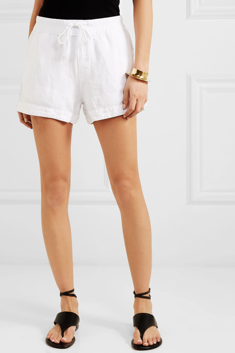 Lyocell and linen-blend shorts