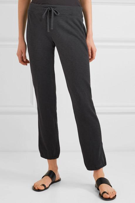 Genie Supima cotton-terry track pants