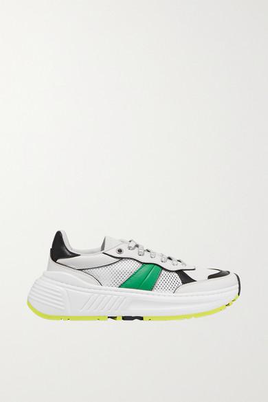Speedster Leather And Mesh Sneakers by Bottega Veneta