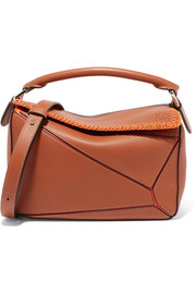 Loewe + Paula's Ibiza Puzzle whipstitched leather shoulder bag