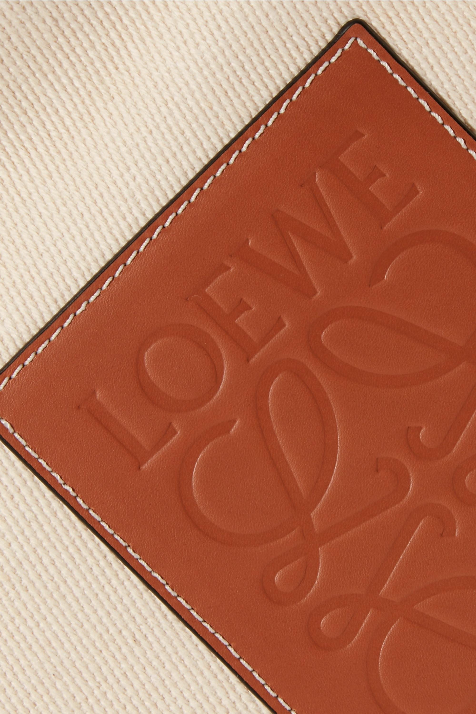 Loewe + Paula's Ibiza Cushion large leather-trimmed canvas tote
