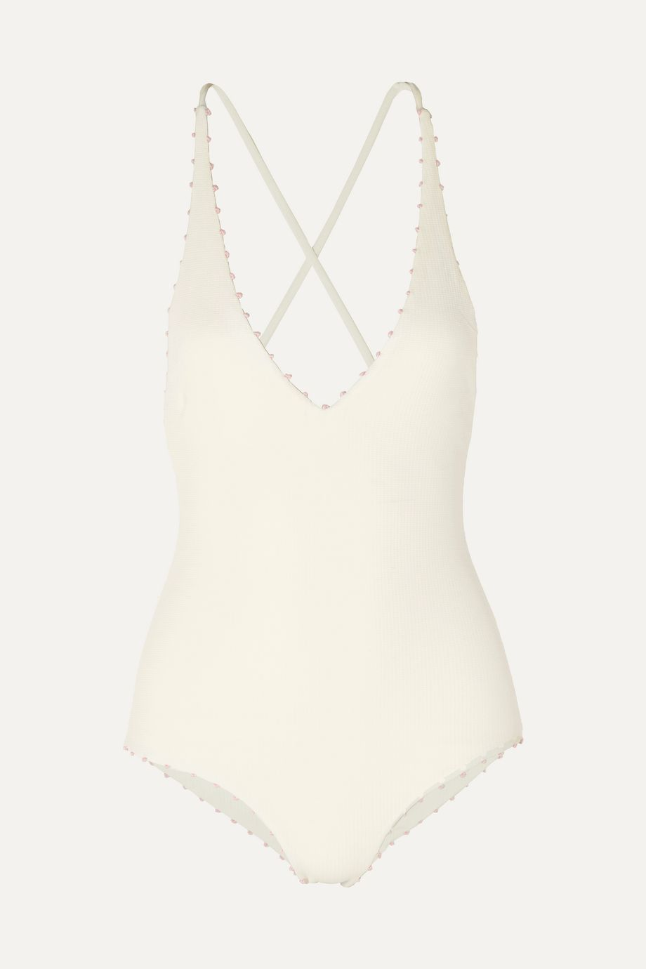 Marysia Torrey knotted stretch-crepe swimsuit
