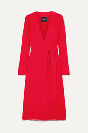 Akris Silk crepe de chine wrap dress