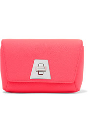 Akris Anouk Little Day neon textured-leather clutch