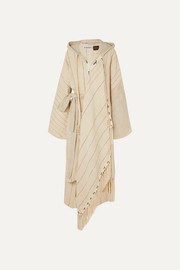 Loewe + Paula's Ibiza oversized hooded linen-blend robe