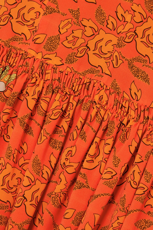 Loewe + Paula's Ibiza paneled printed crepe de chine dress